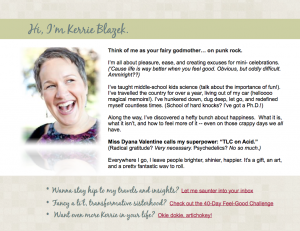 Kerrie Blazek, About Me
