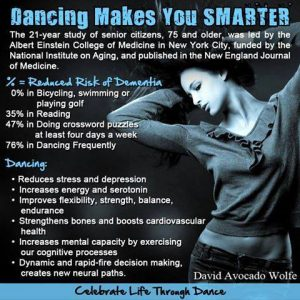 Dancing makes you smarter poster