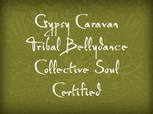Gypsy Caravan Tribal bellydance collective soul buttons-green